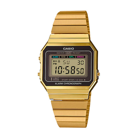 Casio A700WG-9ADF Gold Band Unisex