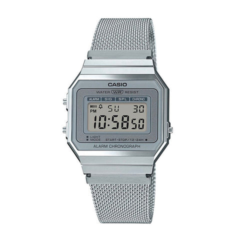 Casio A700WM-7ADF Silver Band Unisex