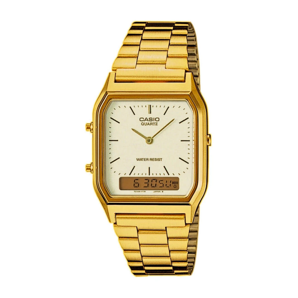 Casio AQ-230GA-9DMQ Gold Band Unisex