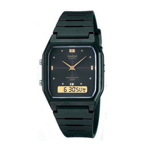 Casio AW-48HE-1AVDF Black Band Unisex