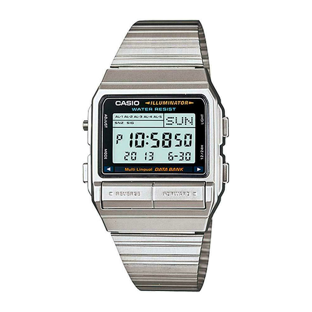 Casio DB-380-1DF Silver Watch Databank Unisex