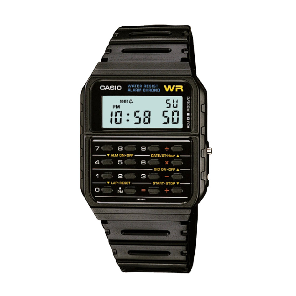 Casio CA-53W-1Z Black Calculator Databank Watch Unisex