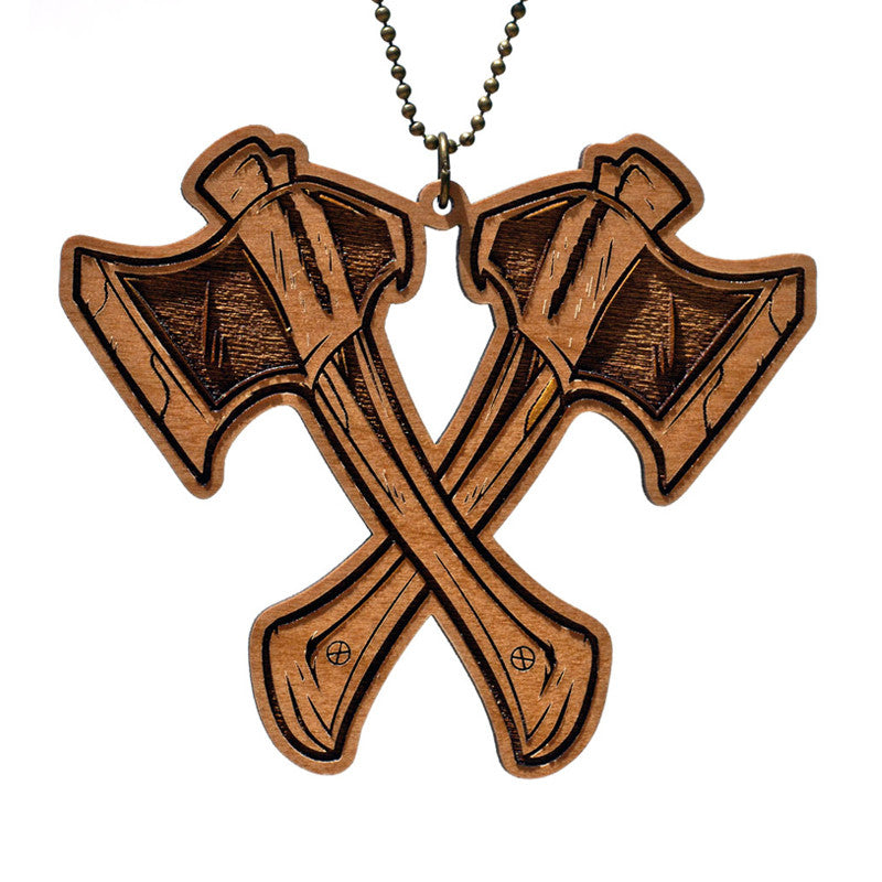 Woodcut 'Double Edged' Necklace
