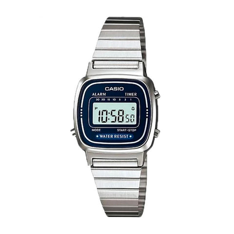 Casio LA670WA-2DF Silver Band Unisex