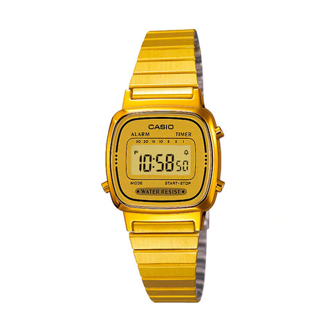 Casio LA670WGA-9DF Gold Band Unisex