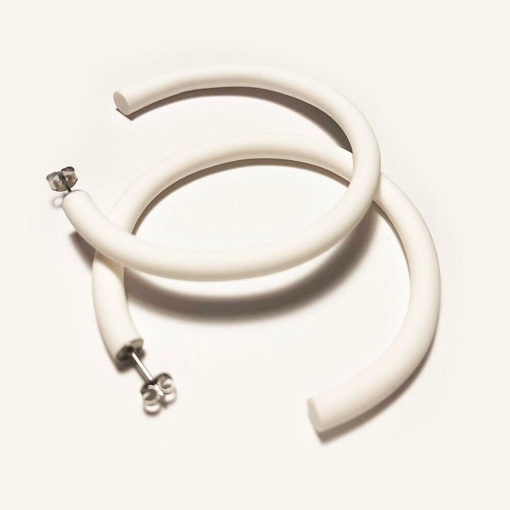 Lounge Hoops - White