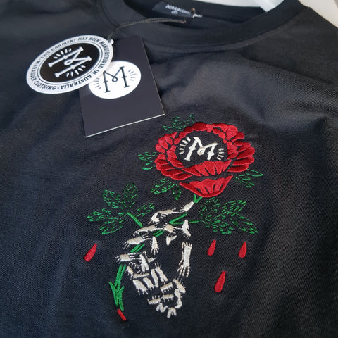 Embroidered Rose Premium Tee