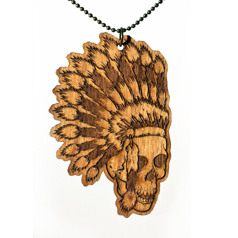 Woodcut 'Muscogee' Necklace