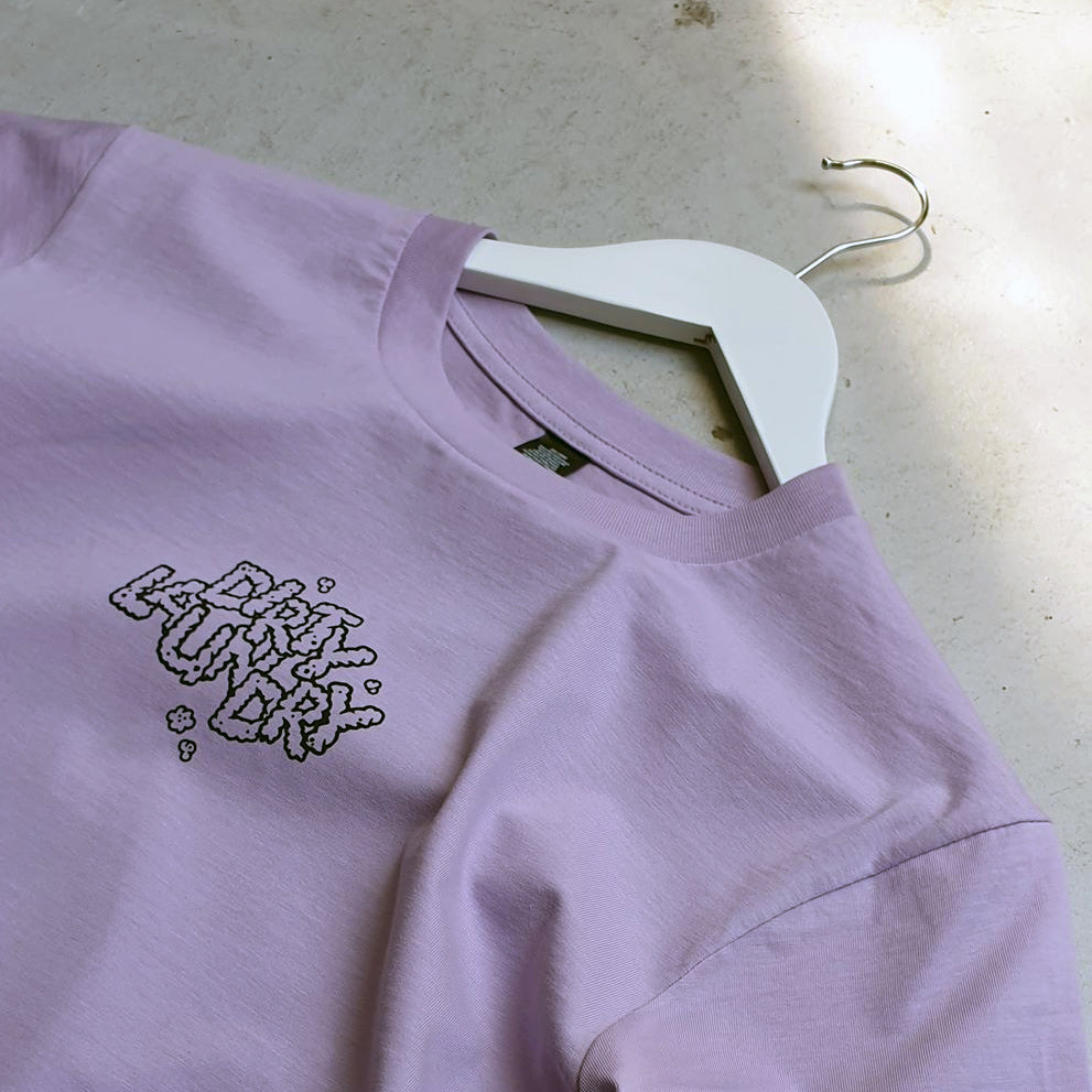 Good People Break Bad Rules Tee (lavender)
