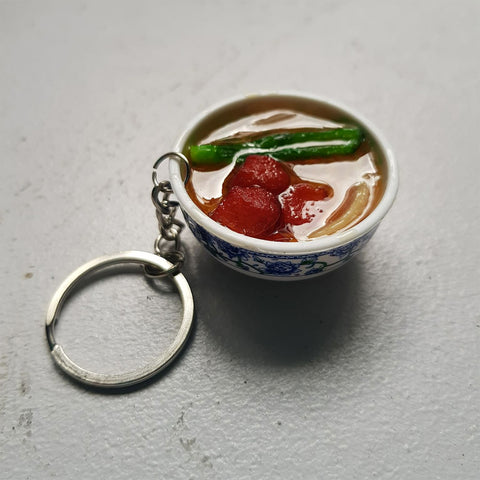 Noodle Soup Bowl Keychain (pork)