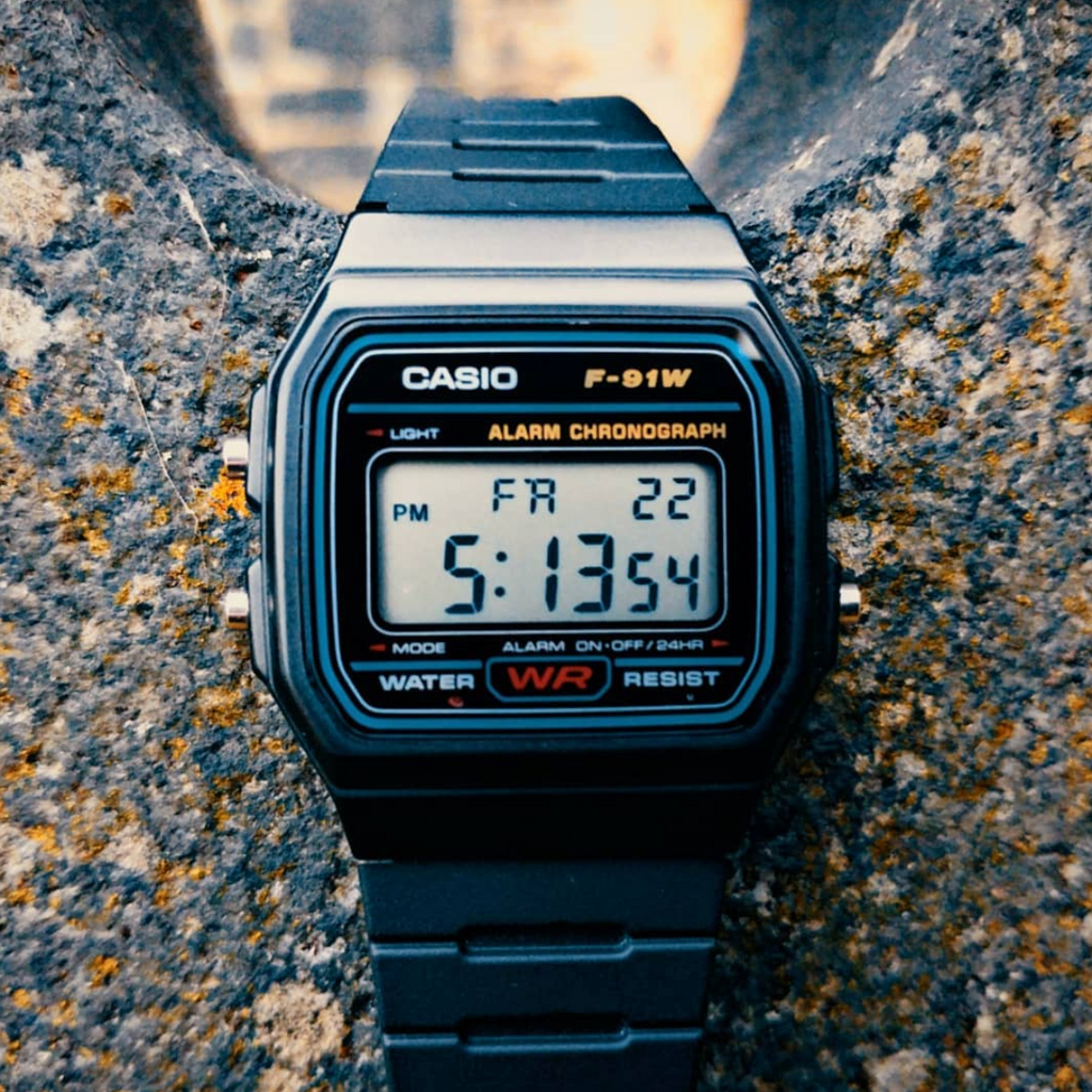 Casio F-91W-1DG Black Watch Unisex