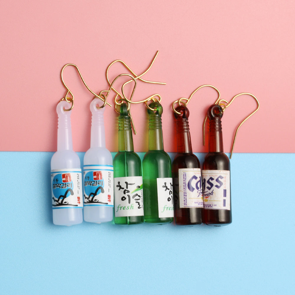 Rice Wine Bottle Earrings