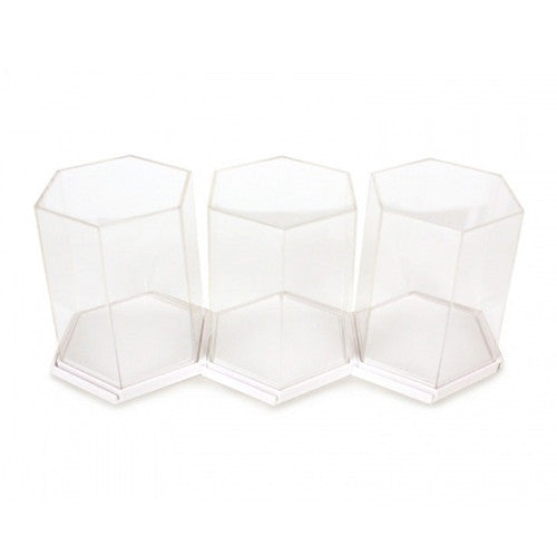 Display Case - Hexagon White