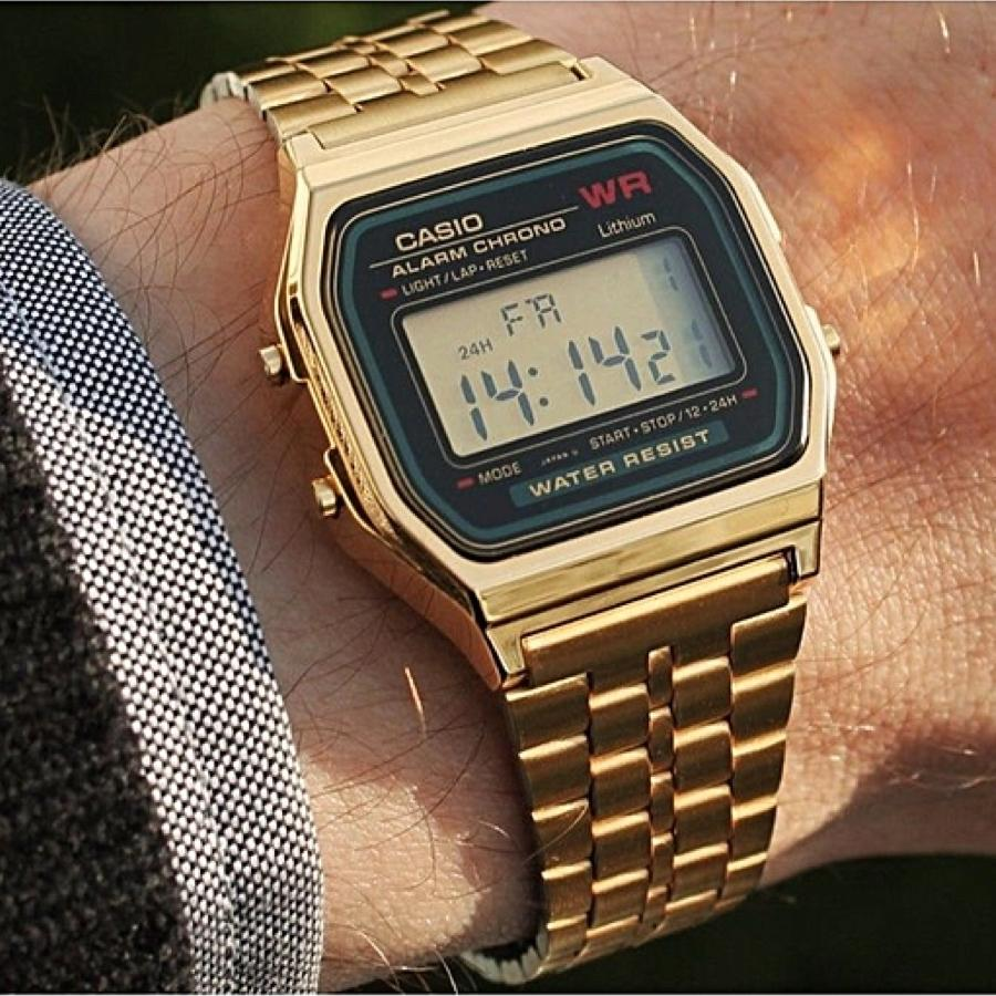 Casio A159WGEA-1DF Gold Band Unisex