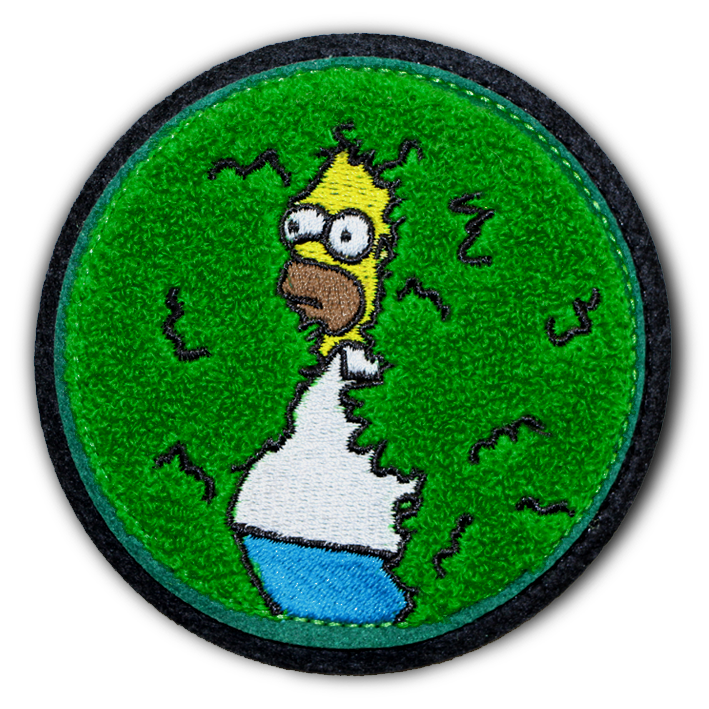 Disappearing Homer Chenille - Patch