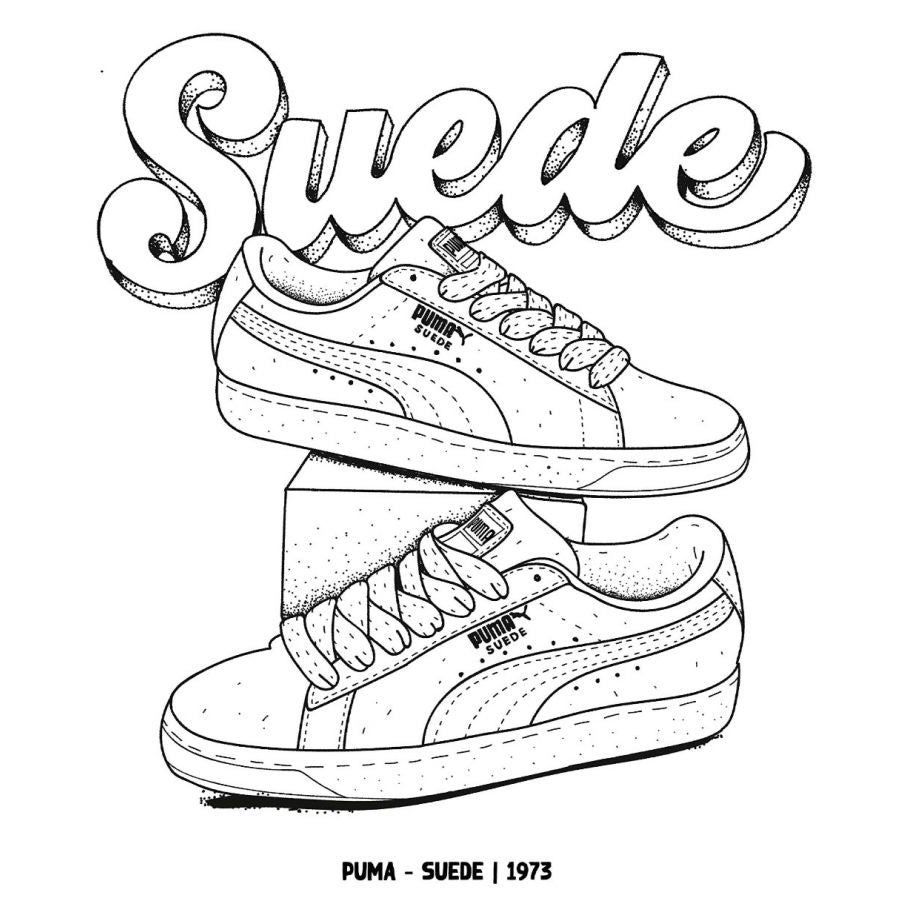Sneaker Colouring Book