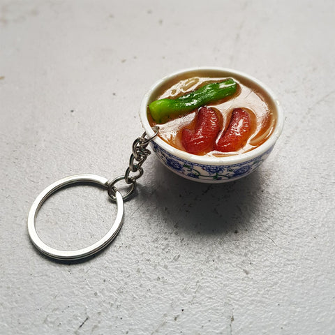 Noodle Soup Bowl Keychain (wings)