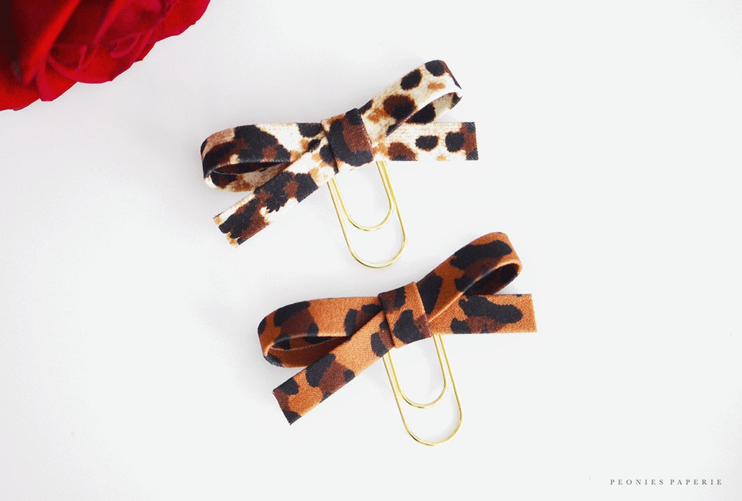 Leopard Print Baby & Original Alice Bow Clip Set