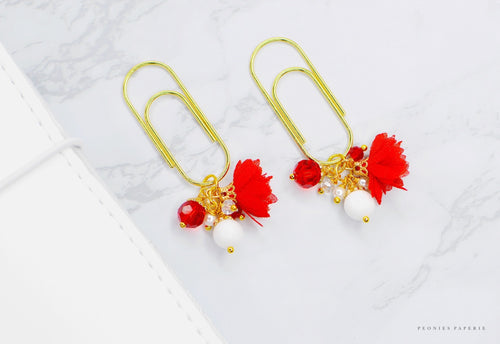 Chiffon Flower Dangle Charm Clip