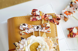 Fall Blooms Alice Bow Paper Clip Set