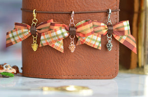 Rose Gold Pine Cone ADD-ON to Bow or Midori Charm Planner or Midori Charm for your Travelers Notebook Chic Sparrow Foxy
