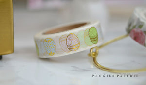Gold Foiled Spring Easter Eggs Washi Tape