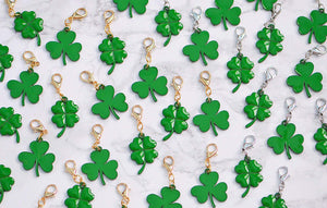St. Patrick's Day Four Leaf Clover Charm for Midori or Travelers Notebook Foxy Fix Chic Sparrow