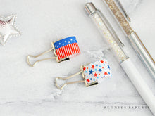 Patriotic Flag and Stars Pen Loops Set Planner Accessories Travelers Notebook