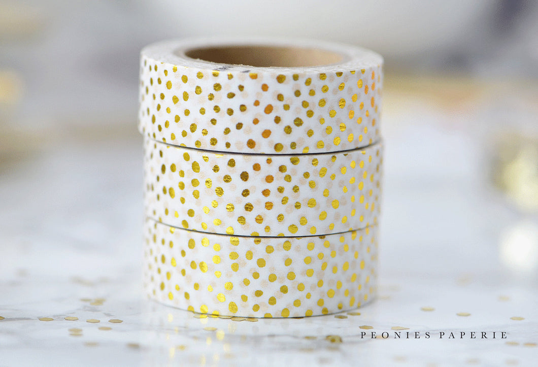 Speckled Dots Gold Foiled Washi Tape