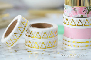 Gold Foiled Triangles Washi Tape
