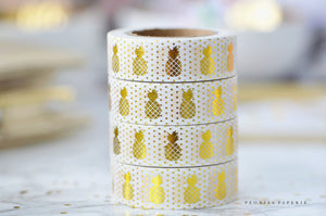 Gold Foiled Pineapples Washi Tape