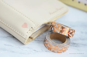 Rose Gold Foiled Butterflies Washi Tape