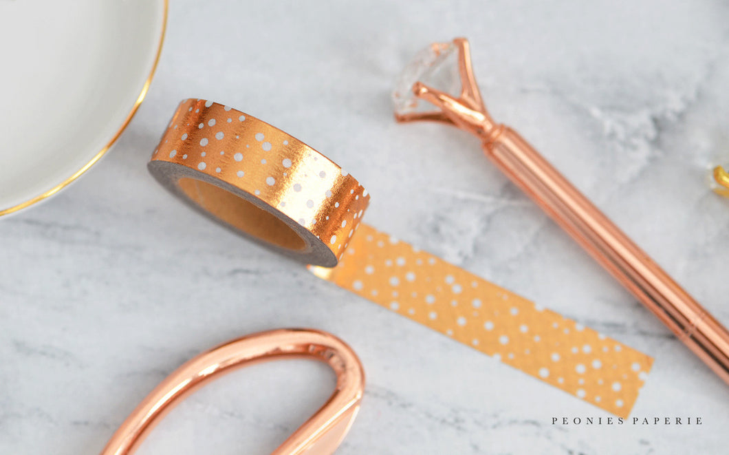 Gilded Copper Foiled Washi Tape