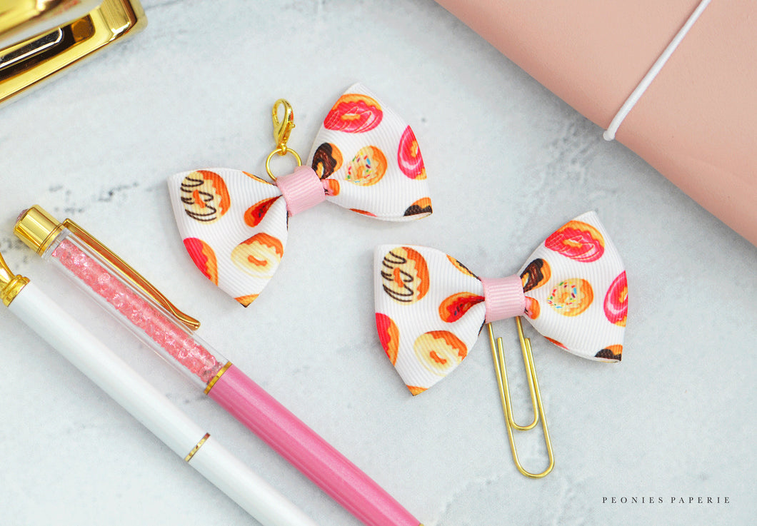 Donuts Ava Bow or Paperclip Charm Travelers Notebook Foxy Fix Chic Sparrow or Erin Condren