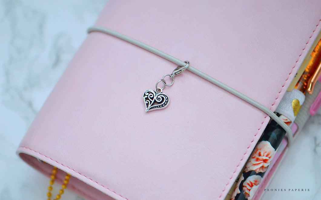 New Brighton Heart Midori Charm or Bow ADD-ON to Bow Planner for your Travelers Notebook Chic Sparrow Foxy