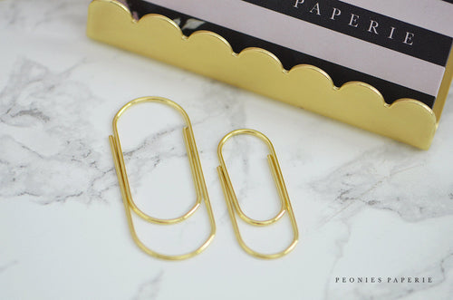 Baby Wide Paper Clips in GOLD Planner Traveler's Notebook Foxy Fix Kate Spade Erin Condren Midori