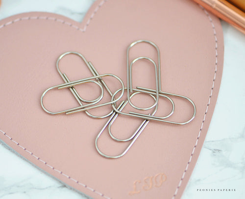 Baby Wide Paper Clips in SILVER Planner Traveler's Notebook Foxy Fix Kate Spade Erin Condren Midori