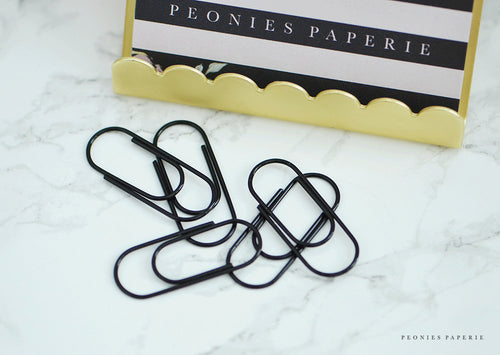 Baby Wide Paper Clips in BLACK Planner Traveler's Notebook Foxy Fix Kate Spade Erin Condren Midori