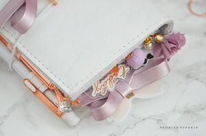 Metallic Lilac Alice Faux Leather Bow Paper Clip