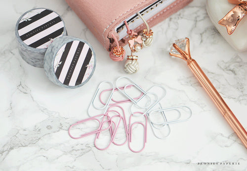 Baby Wide BLUSH PINK Paper Clips Planner Traveler's Notebook Foxy Fix Kate Spade Erin Condren Midori