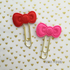 Kitty Bow on Gold  Paper Clip Planner Clip Bookmark for Your Erin Condren Filofax Kikki K Planner Accessories Supplies