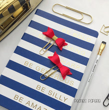 The Stella Bow Felt on Gold Paper Clips Planner Clips for Your Erin Condren Filofax Kikki K Planner Accessories Teacher's Clips