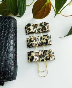 The Wild Collection: Audrey Bow Clip in Leopard