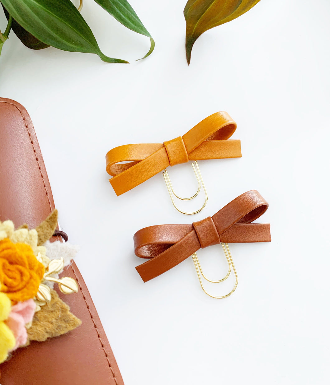 The Essential Collection: Pumpkin & Hazelnut Alice Bow Clips