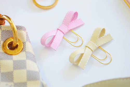 Pixie Pink & Beige Alice Bow Set