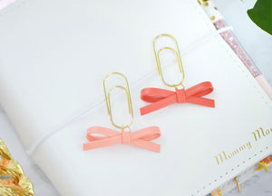 Peach & Coral Petite Alice Bow Dangle Charms