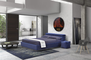 Alba platform bed with storage- Made in Italy