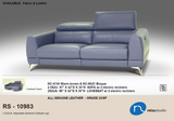 MUSE #10983 Thick Top Grain Leather Recliners Sofa