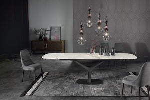 Tonin Casa - Italy - Ariston Extendable Table with Porcelain Top
