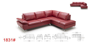 KT-1831  KUKA Gray Eco-leather Sectional